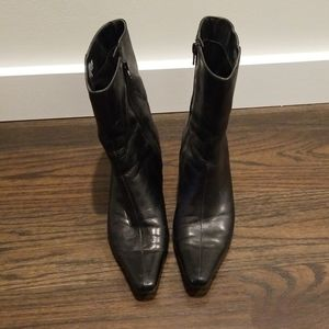 Nine West black heeled boots